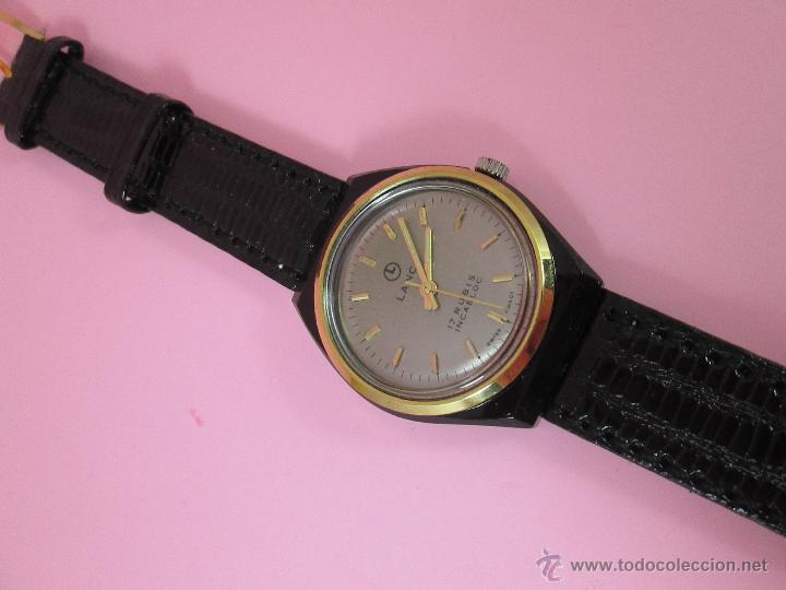 Relojes: ANTIGUO RELOJ-SUIZO-LANCO-FUNCIONANDO PERFECTAMENTE-VER FOTOS. - Foto 7 - 53557518