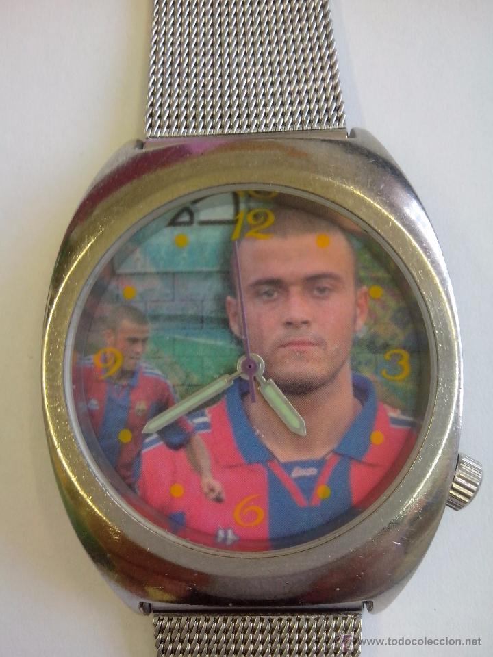 RELOJ FC BARCELONA FOTO LUIS ENRIQUE (Relojes - Relojes Actuales - Otros)