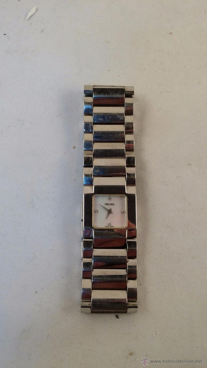 Relojes: Reloj de alta gama de señora Delma con 4 brillantes, acero y cristal de zafiro. - Foto 2 - 54420706