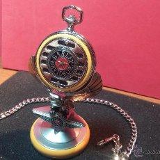 Relojes: RELOJ DE BOLSILLO ESTILO VINTAGE HARLEY DAVISON CON CADENA Y RELOJERA PARA EL MISMO. Lote 54619934