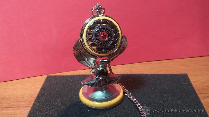 Relojes: Reloj de bolsillo estilo vintage Harley Davison con cadena y relojera para el mismo - Foto 2 - 54619934