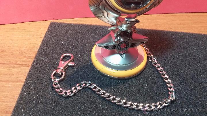 Relojes: Reloj de bolsillo estilo vintage Harley Davison con cadena y relojera para el mismo - Foto 3 - 54619934