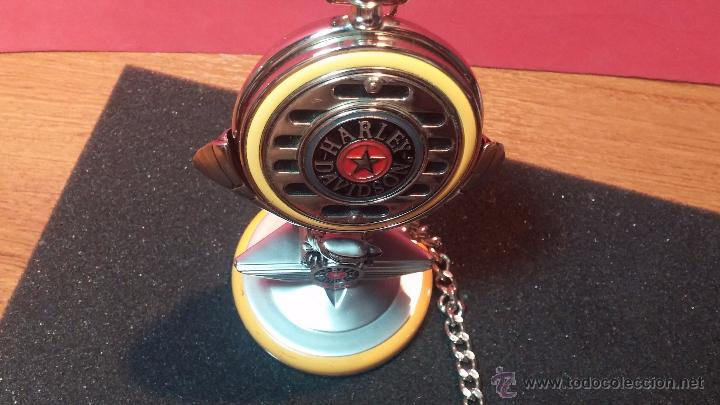 Relojes: Reloj de bolsillo estilo vintage Harley Davison con cadena y relojera para el mismo - Foto 4 - 54619934
