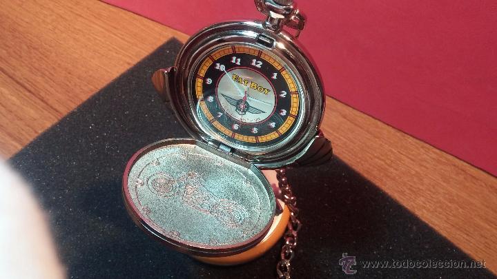 Relojes: Reloj de bolsillo estilo vintage Harley Davison con cadena y relojera para el mismo - Foto 5 - 54619934