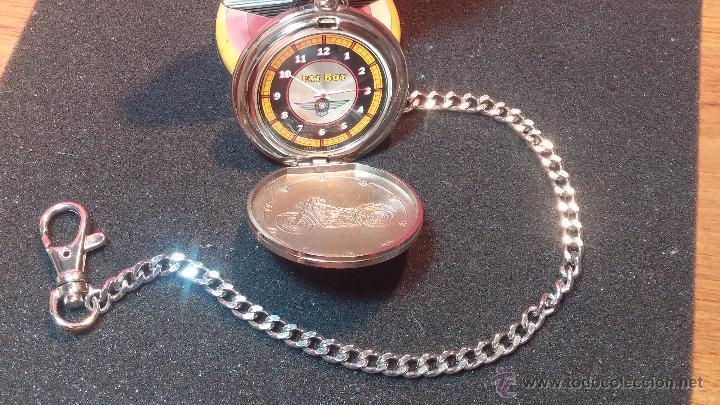 Relojes: Reloj de bolsillo estilo vintage Harley Davison con cadena y relojera para el mismo - Foto 7 - 54619934