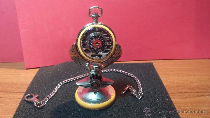 Relojes: Reloj de bolsillo estilo vintage Harley Davison con cadena y relojera para el mismo - Foto 8 - 54619934