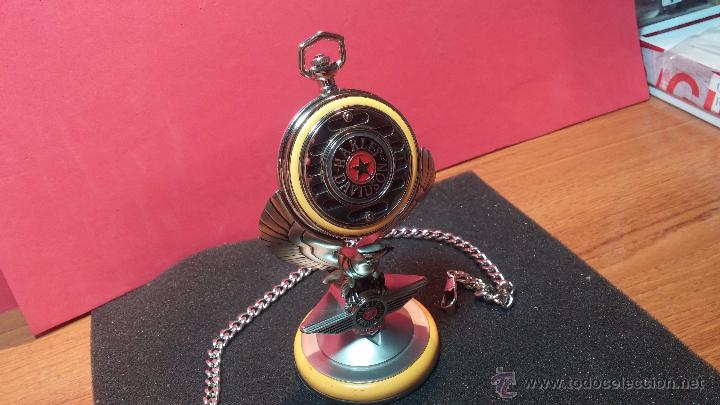 Relojes: Reloj de bolsillo estilo vintage Harley Davison con cadena y relojera para el mismo - Foto 9 - 54619934