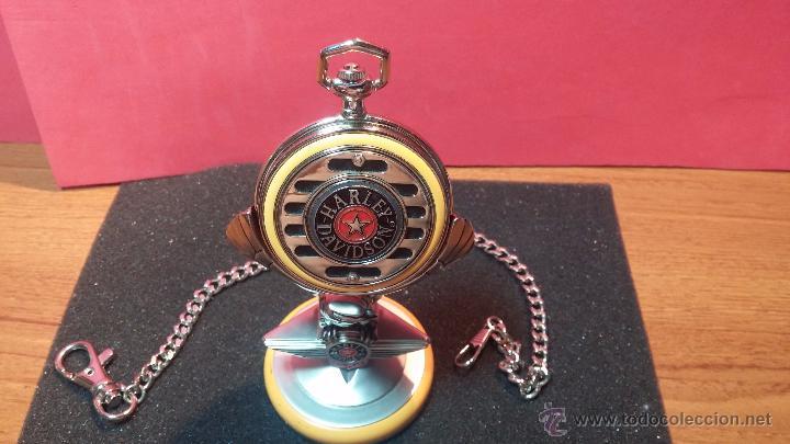 Relojes: Reloj de bolsillo estilo vintage Harley Davison con cadena y relojera para el mismo - Foto 11 - 54619934