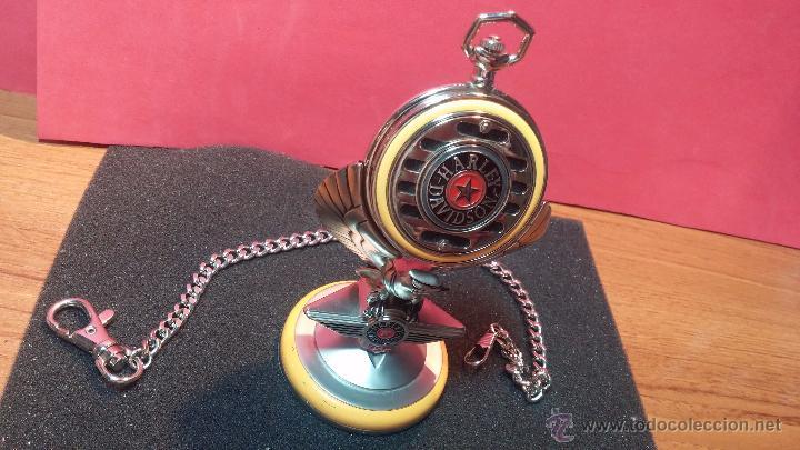 Relojes: Reloj de bolsillo estilo vintage Harley Davison con cadena y relojera para el mismo - Foto 14 - 54619934