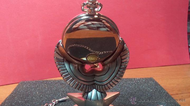 Relojes: Reloj de bolsillo estilo vintage Harley Davison con cadena y relojera para el mismo - Foto 16 - 54619934