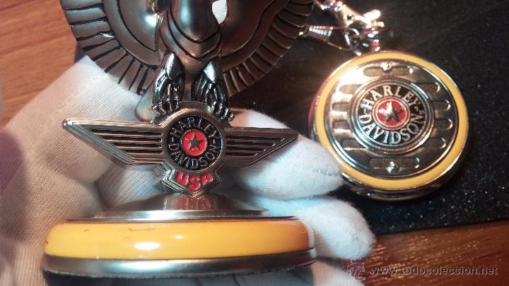 Relojes: Reloj de bolsillo estilo vintage Harley Davison con cadena y relojera para el mismo - Foto 20 - 54619934