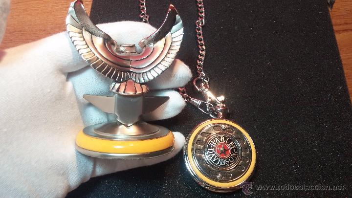 Relojes: Reloj de bolsillo estilo vintage Harley Davison con cadena y relojera para el mismo - Foto 26 - 54619934