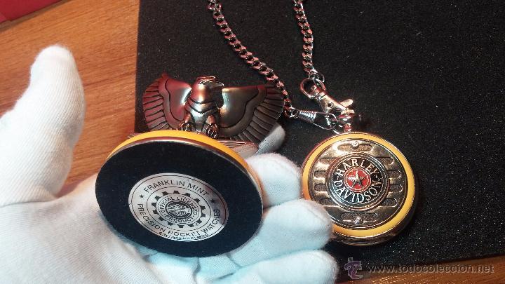Relojes: Reloj de bolsillo estilo vintage Harley Davison con cadena y relojera para el mismo - Foto 29 - 54619934