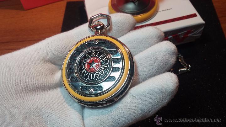 Relojes: Reloj de bolsillo estilo vintage Harley Davison con cadena y relojera para el mismo - Foto 35 - 54619934