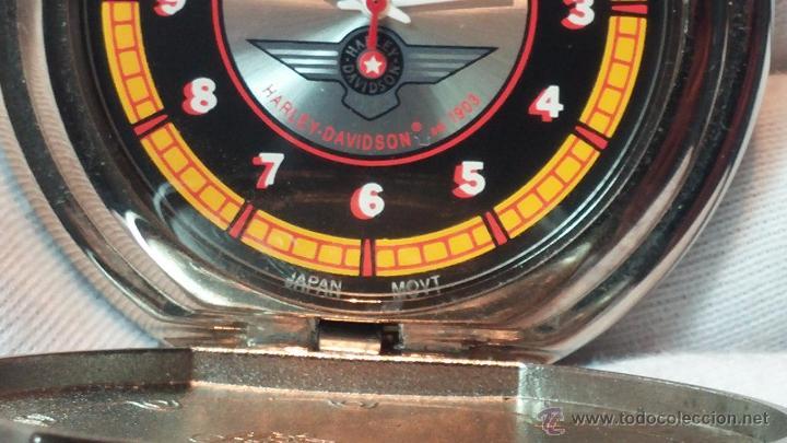 Relojes: Reloj de bolsillo estilo vintage Harley Davison con cadena y relojera para el mismo - Foto 40 - 54619934