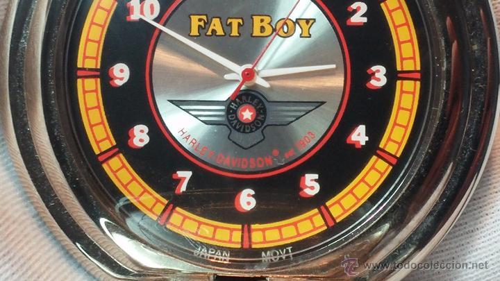 Relojes: Reloj de bolsillo estilo vintage Harley Davison con cadena y relojera para el mismo - Foto 41 - 54619934