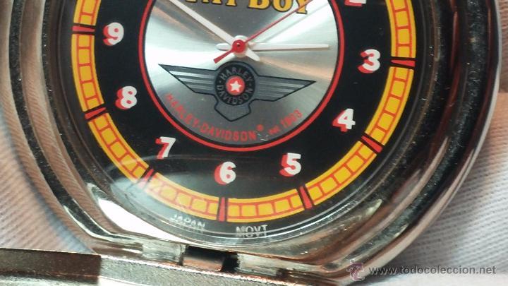 Relojes: Reloj de bolsillo estilo vintage Harley Davison con cadena y relojera para el mismo - Foto 42 - 54619934