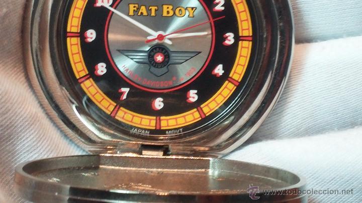 Relojes: Reloj de bolsillo estilo vintage Harley Davison con cadena y relojera para el mismo - Foto 43 - 54619934