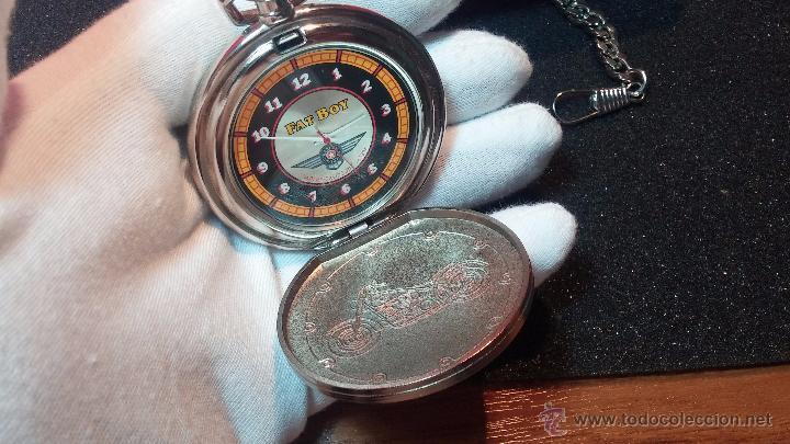 Relojes: Reloj de bolsillo estilo vintage Harley Davison con cadena y relojera para el mismo - Foto 44 - 54619934