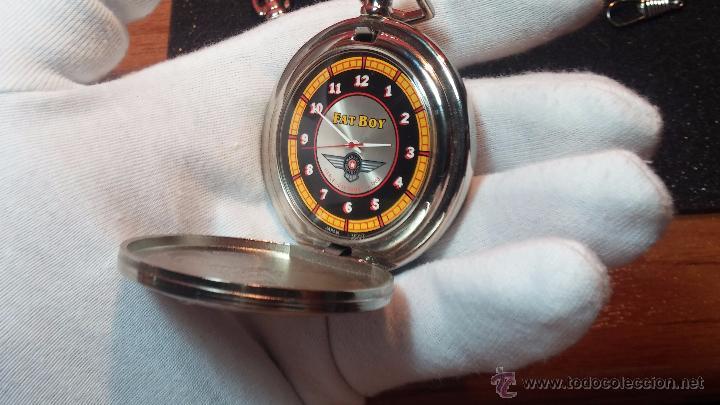 Relojes: Reloj de bolsillo estilo vintage Harley Davison con cadena y relojera para el mismo - Foto 48 - 54619934