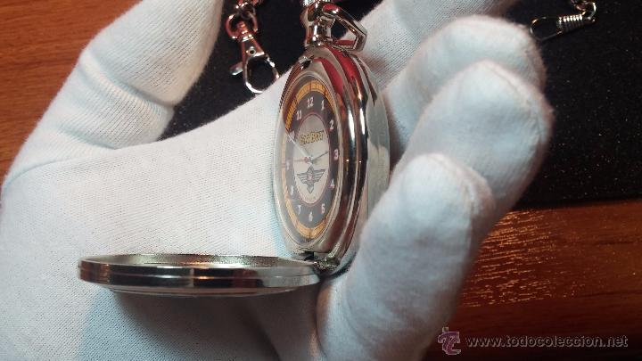 Relojes: Reloj de bolsillo estilo vintage Harley Davison con cadena y relojera para el mismo - Foto 49 - 54619934