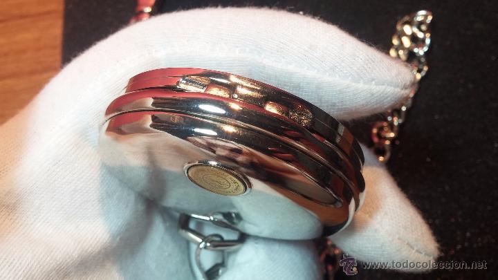 Relojes: Reloj de bolsillo estilo vintage Harley Davison con cadena y relojera para el mismo - Foto 50 - 54619934