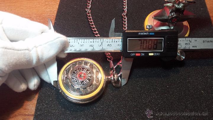 Relojes: Reloj de bolsillo estilo vintage Harley Davison con cadena y relojera para el mismo - Foto 59 - 54619934