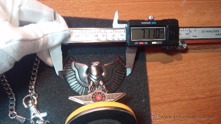 Relojes: Reloj de bolsillo estilo vintage Harley Davison con cadena y relojera para el mismo - Foto 61 - 54619934
