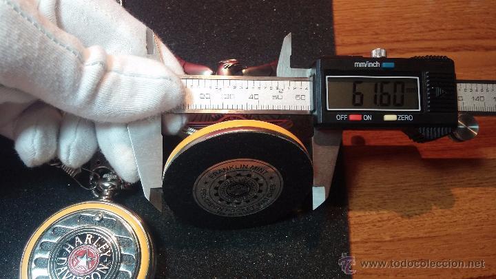 Relojes: Reloj de bolsillo estilo vintage Harley Davison con cadena y relojera para el mismo - Foto 62 - 54619934