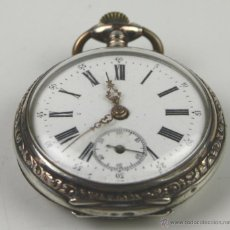 Relojes: RE299. RELOJ DE BOLSILLO GALONNE. PLATA Y COBRE. CAJA DECORADA.S XIX. Lote 71923302