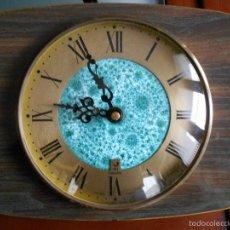 Relojes: RELOJ DE PARED A PILA.MARCA: JAZ TRANSISTOR - FRANCES ,VINTAGE.QUARZ ,DE :24 X 20 CTM.. Lote 55198974