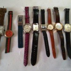Relojes: LOTE DE 9 RELOJES A PILA - ENTRE ELLOS MARCAS GUCCI , LOTUS, BALENCIAGA.,. Lote 56079531