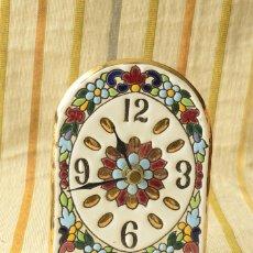Relojes: RELOJ CERÁMICA ESMALTADO PINTADO A MANO . Lote 56256700