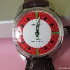 Relojes: ANTIGUO RELOJ-SUIZA-BENRUS-PERFECTO ESTADO-CUERDA/MECÁNICO-CAJA-COMO NUEVO-FUNCIONANDO-VER FOTOS.. Lote 56589094