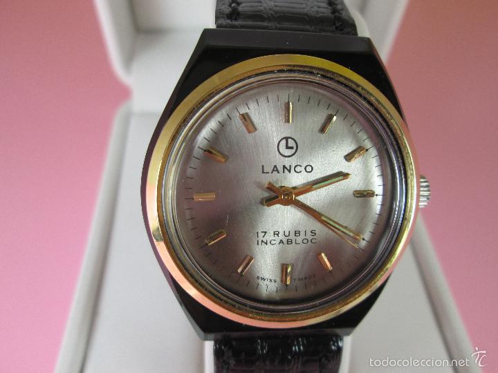ANTIGUO RELOJ-SUIZO-LANCO-FUNCIONANDO PERFECTAMENTE-VER FOTOS. (Relojes - Relojes Actuales - Otros)