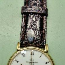Relojes: RELOJ DE CABALLERO CHRITIAN BERNARD CHAPADO DE ORO DE CUARZO CON CALENDARIO A LAS 6. Lote 56599550