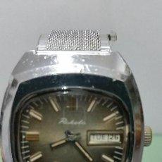 Relojes: RELOJ DE CABALLERO RUSO RAKETA DE CUERDA CON CORREA DE ACERO Y DOBLE CALENDARIO DIA Y SEMANA. Lote 57120306