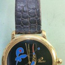 Relojes: RELOJ UNISEX DE CUARZO CREACIÓN DE FRANCISCO SEGARRA MARCA MICRO CON CORREA DE CUERO CHAPADO DE ORO. Lote 57138224