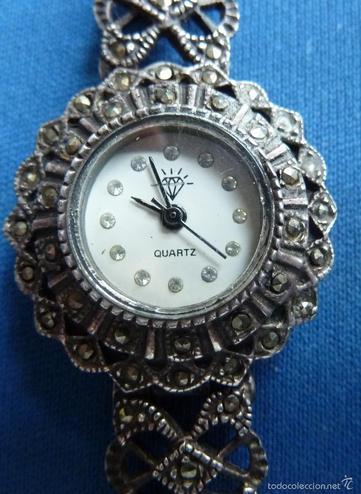 Reloj vintage de mujer plata y marquesitas lo comprar - Relojes justina precios ...