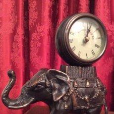 Relojes: ELEFANTE DE BRONCE CON ESFERA DE RELOJ /. Lote 57265779