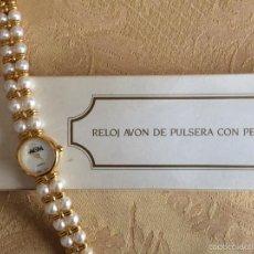 Relojes: RELOJ VINTAGE AVON DE PULSERA CON PERLAS QUARTZ. Lote 57313241