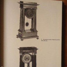 Relojes: HOJA RECORTE GRAFICO RELOJ ANTIGUO , RELOJES ANTIGUOS FOTOGRAFIAS EN BLANCO Y NEGRO TRASERA EN COLOR. Lote 57846675