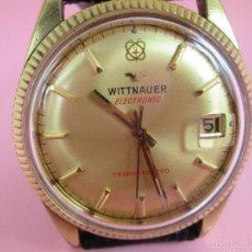 Relojes: 13-PRECIOSO RELOJ-SUIZO-WITTNAUER ELECTRONIC TRANSISTORIZED-BUEN ESTADO-FUNCIONANDO-CORREA PIEL. Lote 57882223