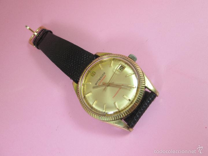 Relojes: 13-precioso reloj-suizo-wittnauer electronic transistorized-buen estado-funcionando-correa piel - Foto 2 - 57882223