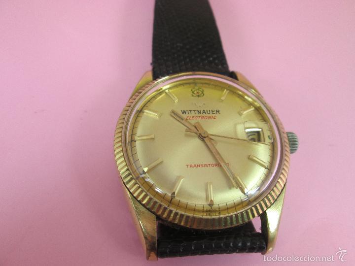 Relojes: 13-precioso reloj-suizo-wittnauer electronic transistorized-buen estado-funcionando-correa piel - Foto 3 - 57882223