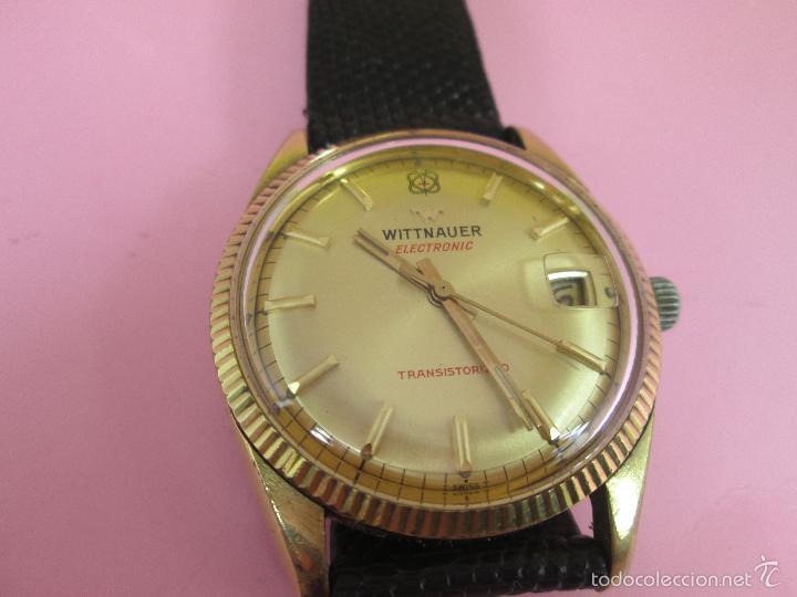 Relojes: 13-precioso reloj-suizo-wittnauer electronic transistorized-buen estado-funcionando-correa piel - Foto 4 - 57882223