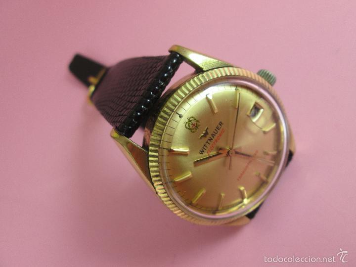 Relojes: 13-precioso reloj-suizo-wittnauer electronic transistorized-buen estado-funcionando-correa piel - Foto 5 - 57882223