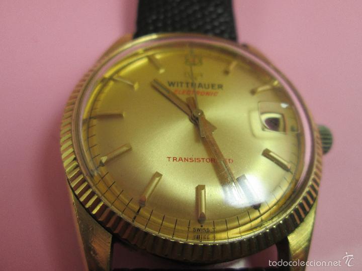 Relojes: 13-precioso reloj-suizo-wittnauer electronic transistorized-buen estado-funcionando-correa piel - Foto 6 - 57882223