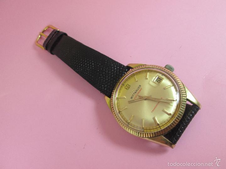 Relojes: 13-precioso reloj-suizo-wittnauer electronic transistorized-buen estado-funcionando-correa piel - Foto 7 - 57882223
