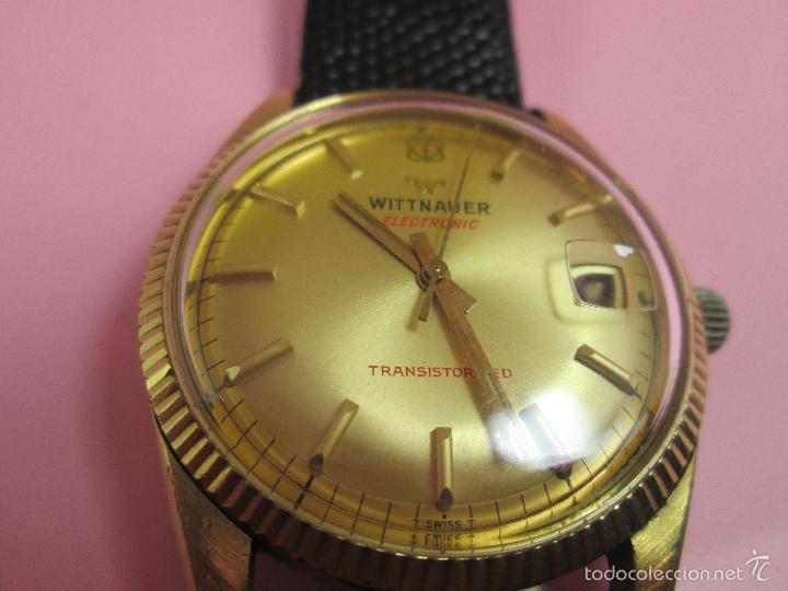 Relojes: 13-precioso reloj-suizo-wittnauer electronic transistorized-buen estado-funcionando-correa piel - Foto 9 - 57882223